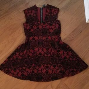 Red and black lace dress:)